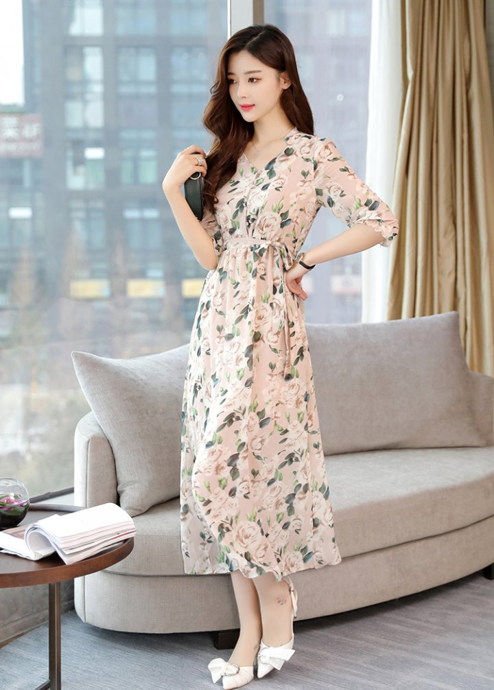Sandy beach long dress elegant dress
