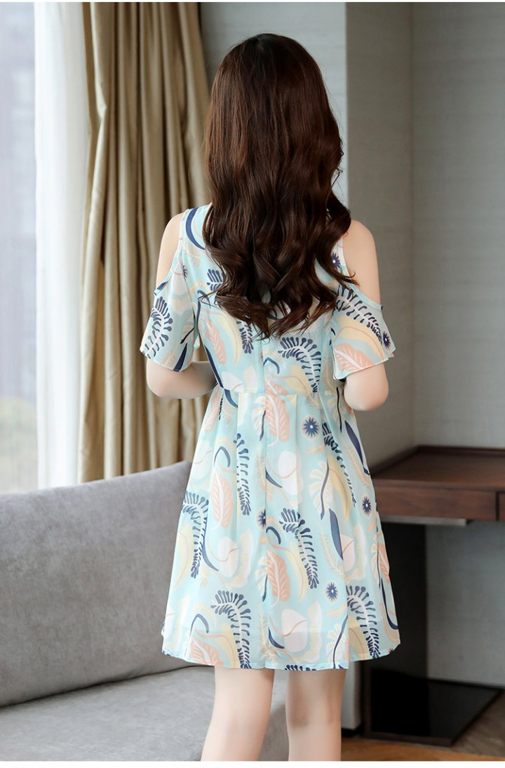 Strapless chiffon dress slim T-back for women