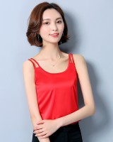 High elastic vest real silk bottoming shirt