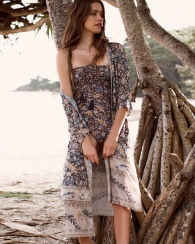 Bohemian style sunscreen spring and summer long smock