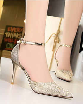 Fashion low sandals Korean style hollow high-heeled shoes