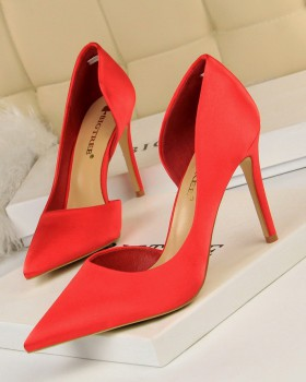 Slim shoes European style high-heeled shoes for women