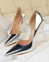 European style hollow high-heeled shoes pointed shoes