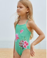 Printing European style girl spa child bikini lovely swimwear