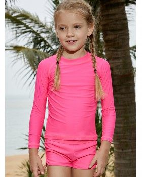 Swim girl separates swimsuit wicking long sleeve swimwear