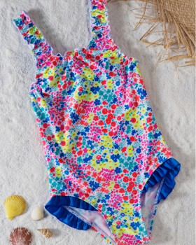 Girl geometry bikini printing sling swimwear