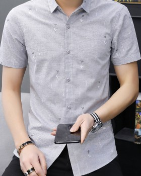Korean style student shirts youth summer shirt for men