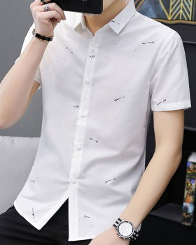 Short sleeve youth Korean style bottoming summer slim shirt