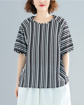 Loose large yard tops cotton linen shirts for women