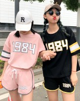 College style sports shorts short sleeve T-shirt 2pcs set