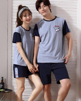 Couples homewear shorts pure cotton pajamas a set for men