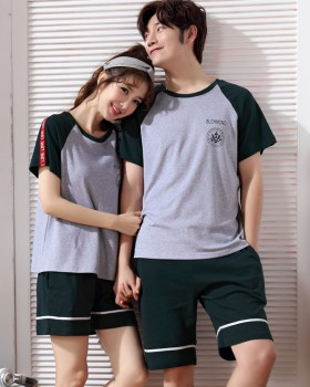 Pullover pure cotton short sleeve thin pajamas