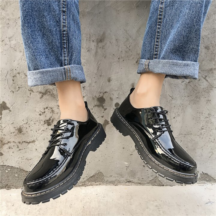 Spring low leather shoes fashion Korean