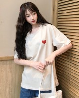 Loose student round neck short sleeve pure cotton T-shirt