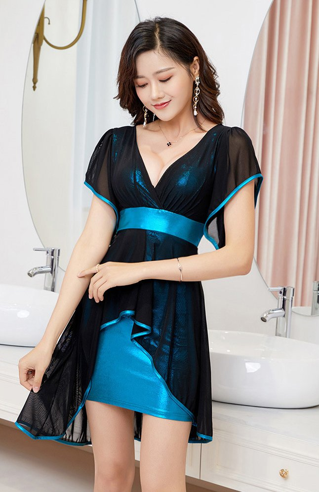 Slim nightclub Cover belly sexy dress for women