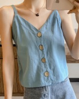 V-neck chiffon vest wears outside bottoming clavicle for women