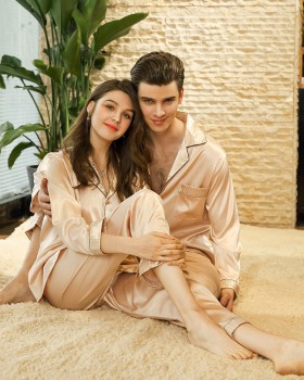 Wedding couples autumn long sleeve homewear pajamas for women