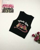 All-match sling printing vest letters knitted tops