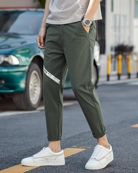 Feet all-match nine pants summer loose harem pants for men