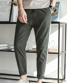 Elastic loose pants nine tenths casual pants for men
