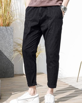 Elastic waist nine pants casual pants for men