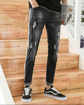 All-match feet summer pants beggar elasticity slim jeans