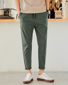 All-match summer casual pants elastic waist pants