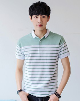 Short sleeve Korean style T-shirt summer stripe shirts for men