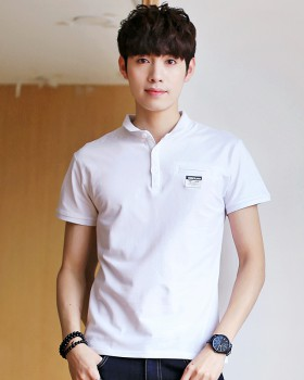 Shirt collar summer shirts lapel T-shirt for men