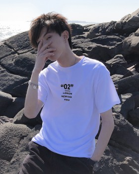 Student summer T-shirt youth fashion tops for men