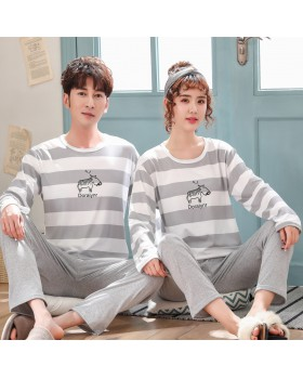 Milk silk couples homewear pajamas a set