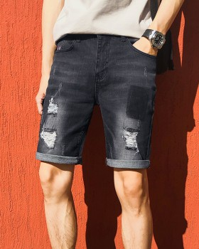 Slim elasticity five pants summer fashion shorts for men