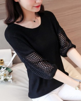 Short thin hollow tops loose summer shirts for women