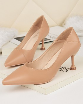 Low wear high-heeled shoes pointed shoes for women