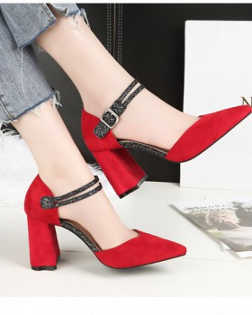 Fashion sexy shoes pointed high-heeled shoes for women