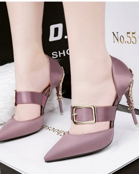 Fine-root sexy sandals nightclub pointed high-heeled shoes