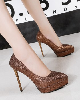 European style platform sexy high-heeled shoes for women