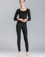 High elastic pure slim long sleeve sexy tops a set