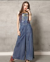 Sling embroidery long pants Casual jumpsuit for women