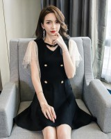 Strapless Korean style T-back sexy dress