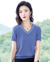 Korean style tops loose bottoming shirt for women