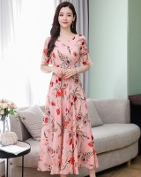 Trumpet sleeves long dress large yard dress for women