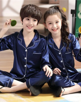 Long sleeve spring and autumn couples homewear cardigan a set