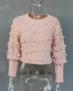 Fashion pullover tops stereoscopic sweater for women