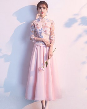 Spring Chinese style formal dress long bridesmaid dress