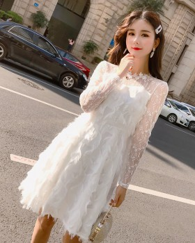 Spring and summer formal dress gauze dress for women