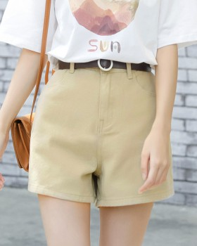 Straight pants loose all-match Korean style fashion short jeans