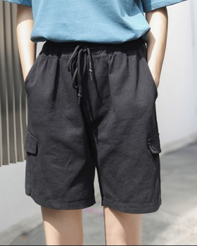 Summer Casual straight pants student loose shorts for women