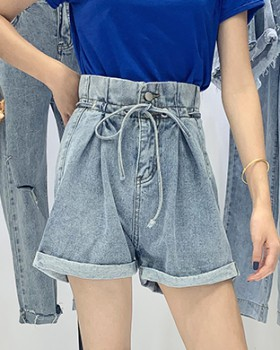 Sexy wide leg shorts slim high waist pants for women