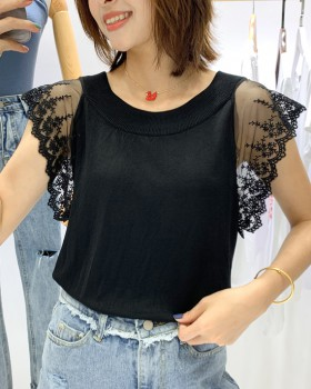 Slim lace sleeveless T-shirt sling sexy vest for women